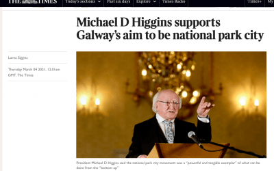 Michael D Higgins supports Galway's aim to be national park city